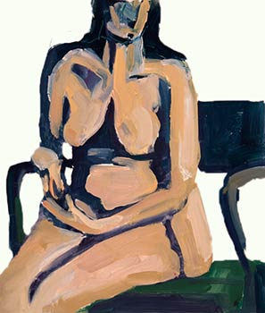 Seated Nude painting